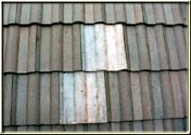 Tile roof repairs after cleaning the roof.