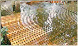 deck partially cleaned