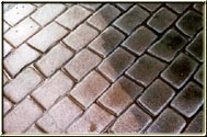 Stamped Concrete Cleaning Before and After